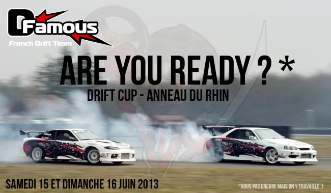 En route pour la DriftCup n°7 le 15/16 juin 2013